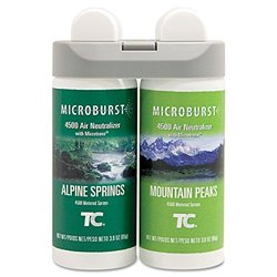 Rubbermaid Microburst Duet Alpine Spring/Mountain Peaks Refills - 4 Pack