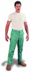 "Steel Grip Flame Resistant 12-Oz Cotton Whipcord Pant - 30"" x 32"" - Green"