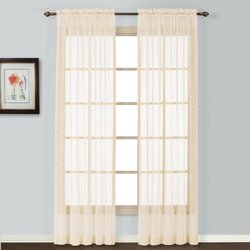 United Curtain Charlotte Window Curtain Panel, 56 by 63-Inch, Antique