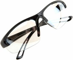 Forney 55418 Safety Glasses Malibu Jack M-15 with Black Frame Indoor Outdoor Lens