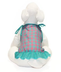Gooby Spaghetti Strap Dress for Dogs - Large - Pink Check