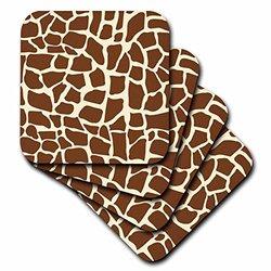 3dRose Soft Coasters - African Safari - Set of 4
