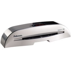 Fellowes Saturn 2 95 Laminator with Pouch Starter Kit - Silver/Black