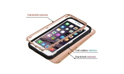 Insten Tuff Hybrid iPhone 6 Plus Case - Rose Gold/Black