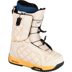 Celsius Women's Cosmo O.Zone Speed Lace Snowboard Boots - Beige - Size: 5