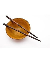 Megawing Fork Chopsticks, Wood Black