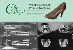 Cybrtrayd BUN-J041K070 2-Piece Teeth Chocolate Molds