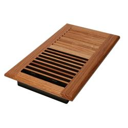Decor Grates 6 in. x 14 in. Wood Oak Natural Wall Register