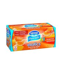 Nestle Pure Life Exotics Sparkling Water 12Oz/355ml Cans & 8Pk - Tangerine
