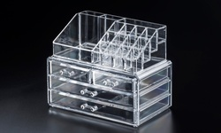 Cosmetic Organizer: Split Top Drawer-two Small Drawers/threemediumdrawers