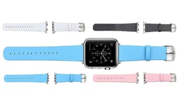 Microfiber 38mm PU Leather Strap for Apple Watch - White