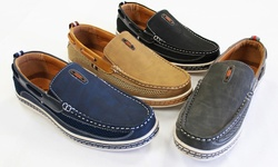 Frenchic Men's Slip On Loafers - Tan - Size: 8.5