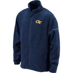 Columbia Men's Georgia Tech Full-Zip Fleece Jacket - Navy - Size: XL