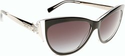 Michael Kors 57mm Women's Cateye Sunglasses - Caneel Black/Gray Lens