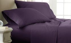 Luxury Linens Premium Ultra Soft Checker Design 4 Piece Bed Sheet Set