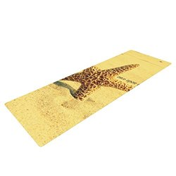 "Kess InHouse Robin Dickinson ""Once upon a Time"" Yoga Exercise Mat, Starfish, 72 x 24-Inch"