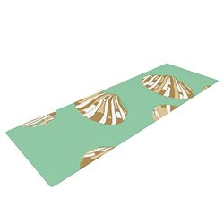 "Kess InHouse Rosie Brown Yoga Exercise Mat - Scallop Shells - 72"" x 24"""