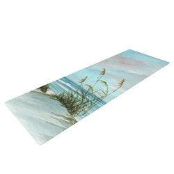 Kess InHouse Rosie Brown Yoga Exercise Mat - Sea Oats