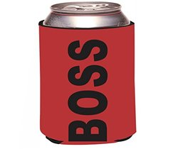 "Rikki Knight RKws-KOOZIE-42911 ""Like a BOSS Red Color Design"" Beer Can/Soda Drink Cooler Koozie"