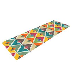 Kess InHouse Julia Grifol Yoga Exercise Mat, My Diamond, 72 x 24-Inch