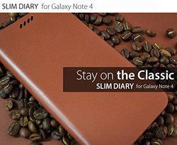 Araree Slim Diary Case for Galaxy Note 4 - Blue
