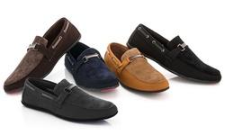 Franco Vanucci Men's Roberto-6 Driver Shoes - Black - Size: 12