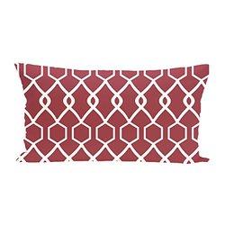 E By Design Charleston Geometric Print Seat Cushion - Brick - Size: One