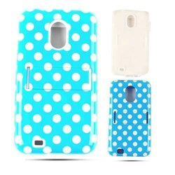 Cell Armor Samsung Epic 4G Touch Jelly Case - White Dots on Blue