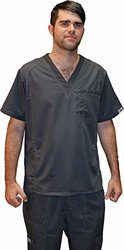 Dress A Med 2 Piece Men's Utility Scrubs Set - GunMetal - Size: Medium