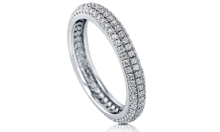 e88a5241204a ... Women s 5.38 CTTW Swarovski Elements Crystals Eternity Ring - Size  ...