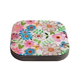 "Kess InHouse Louise Machado ""The Garden"" Coasters - 4""X4"""