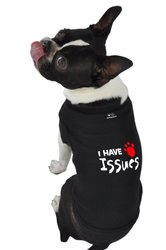 """Doggie Tank Top """"I Have Issues"""" - Brown - Size: Medium"""