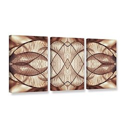 Cora Niele's Wallpaper IV 3 Piece Gallery Wrapped Canvas Set - 18 by 36""