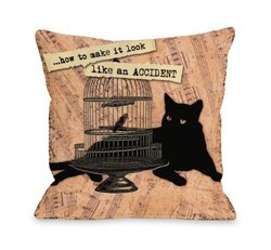 "Bentin Pet Decor ""Look Like an Accident"" Throw Pillow for Pets - 20 x 20"""
