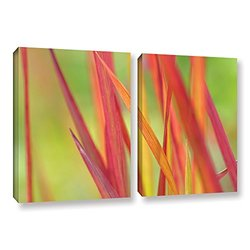 Cora Niele's 2 Piece Gallery Wrapped Canvas Set - Red Winter - 18 x 28""