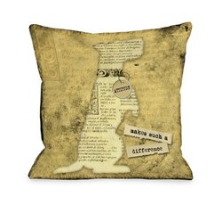 "Bentin Pet Decor ""Attitude Makes Such a Big Difference"" Throw Pillow"