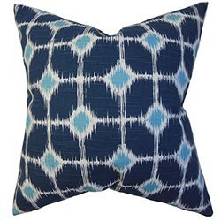 The Pillow Collection Kyd Geometric Pillow - Blue