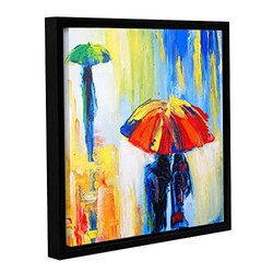 """Susi Franco's Downpour Gallery Wrapped Floater-Framed Canvas - 18 x 18"""""""
