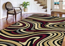 Universal Rugs Contemporary Abstract 5 ft. x 7 ft. Area Rug - Charcoal