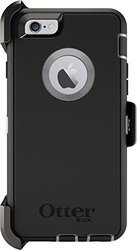 iPhone 6/6S OtterBox Defender Case: Black & Gunmetal Gray