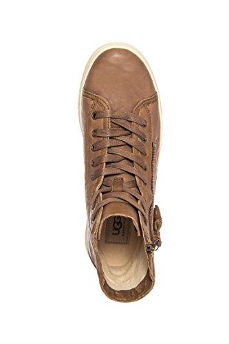 423a0e37f1e UGG Women's Blaney Leather Sneaker - Dark Chestnut - Size: 9 B ...