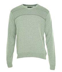 Perry Ellis Men's Long Sleeve V-Neck Sweater - Alloy Heather - Size:  M