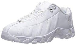 K-Swiss Women's ST329 CMF Training Shoe - White/Silver - Size: 7.5