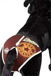 D&D Dog Pants Love My Boss with 4-Sanitary Pads - White - Size: 16-23cm
