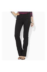 Ralph Lauren Women's Twill Straight Leg Pant - Black - Size: Medium