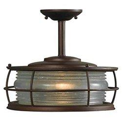 HDC HDP11970 Harbor 1-Light Copper Outdoor Hanging Semi-Flush Mount Light
