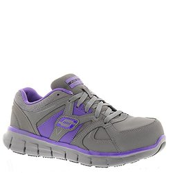 Skechers Work Synergy Sandlot Women's Sneakers - Gray/Purple - Size: 6