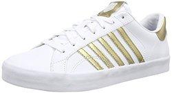 K-Swiss Women's Belmont SO Fashion Sneaker - White/Gold - Size: 8.5 M