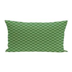 E By Design Geometric Print Outdoor Seat Cushion - Leaf Green