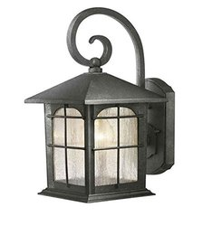 HDC Y37029A-151 Brimfield 1-Light Aged Iron Outdoor Wall Lantern